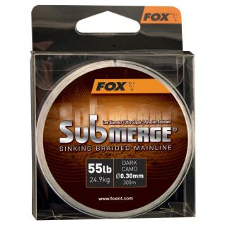 Cable trenzado Fox Submerge Dark Camo 55LB/0.30MM 300M