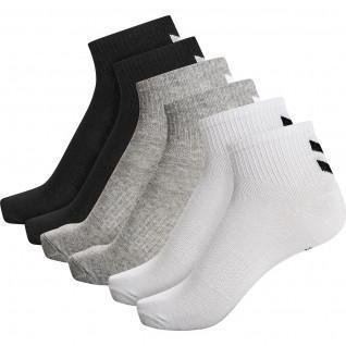 Paquete de 6 calcetines de mujer de longitud media Hummel hmlchevron