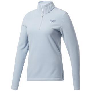 Vellón de mujer Reebok Outerwear Fleece Quarter-Zip