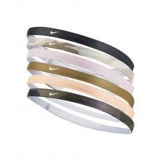 Pack de 6 cintas para la cabeza con estampado Nike